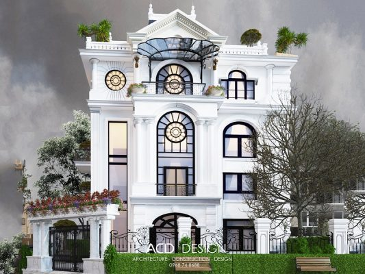 biệt thự tân cổ điển 5 tầng 8x14m