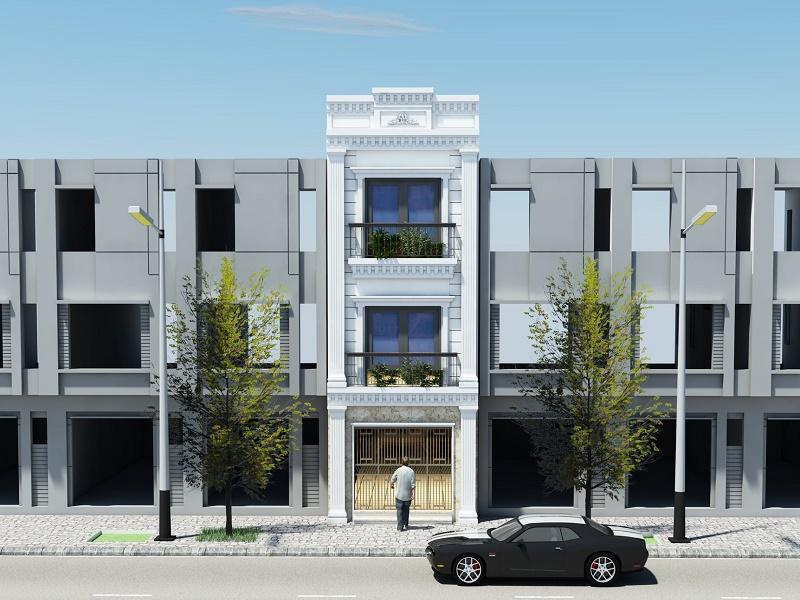 Mẫu thiết kế nhà phố diện tích 4x11m kiến trúc tân cổ điển
