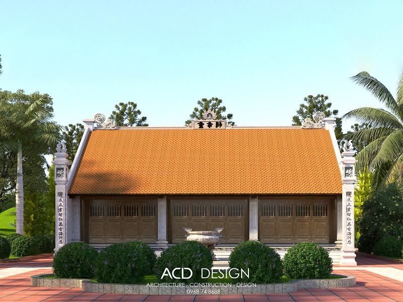 Bản vẽ thiết kế nhà thờ họ 3 gian được nhiều lựa chọn