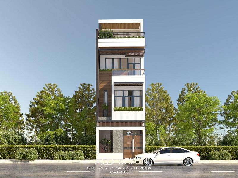 Mẫu nhà phố hiện đại 4x20m với kiến trúc độc đáo