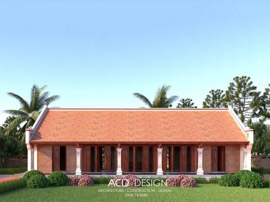 mẫu thiết kế nhà thờ họ 5 gian
