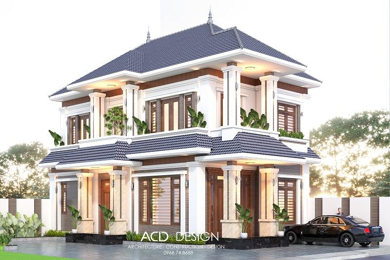 Thiết kế biệt thự 2 tầng hiện đại phong cách độc đáo