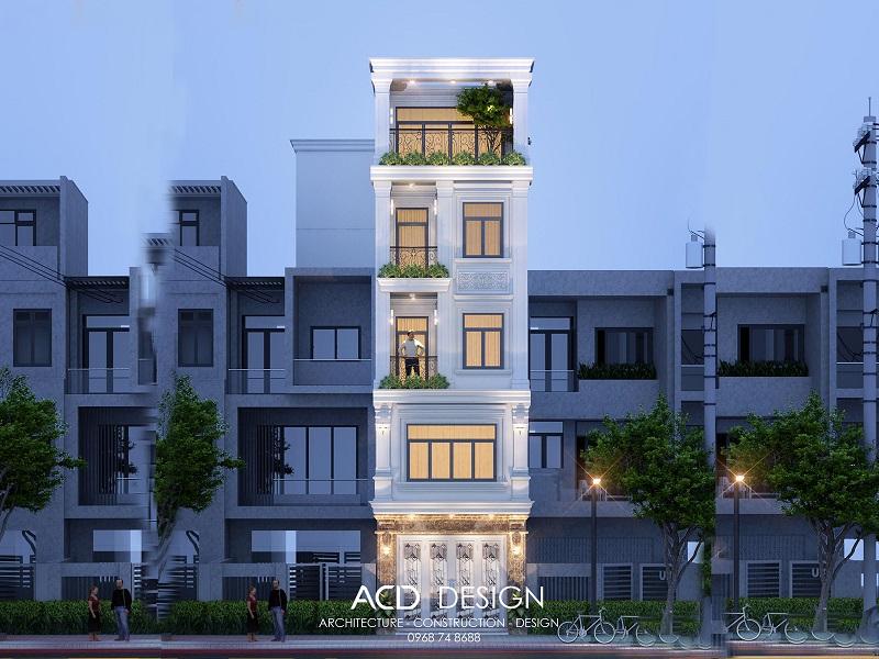 Thiết kế nhà phố 4x16m kiến trúc tân cổ điển độc đáo