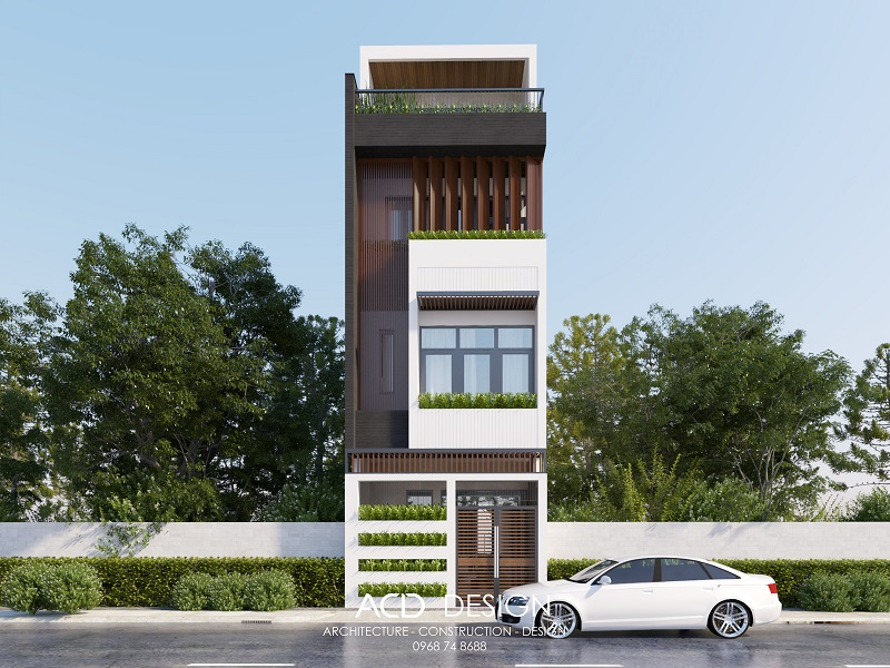 Mẫu thiết kế nhà rộng 4m dài 15m với kiến trúc hiện đại