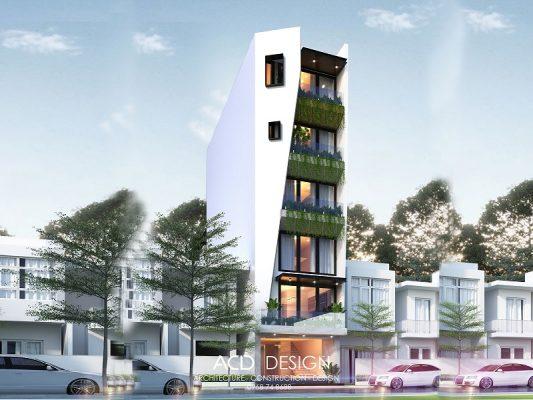 thiết kế nhà rộng 4m dài 25m