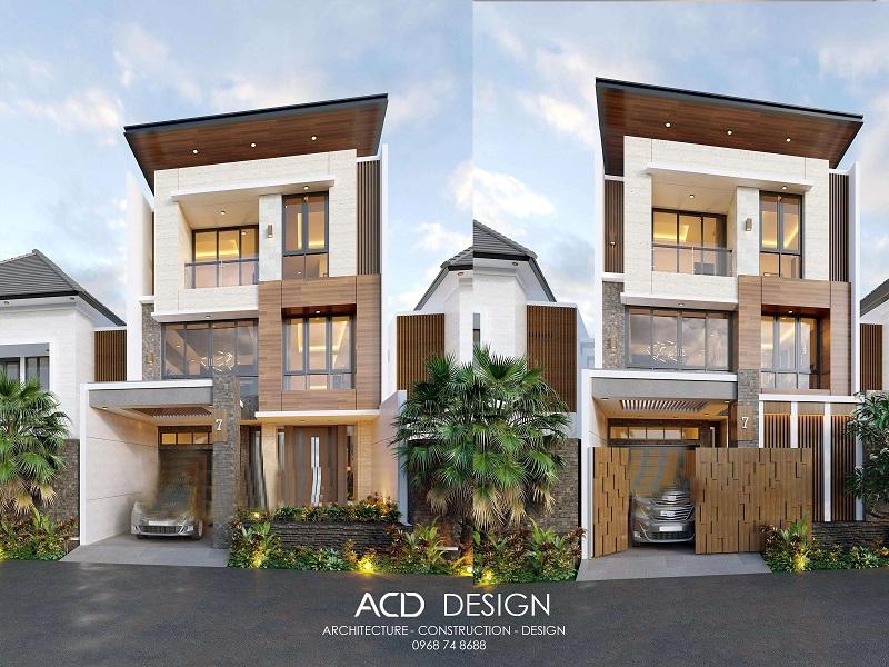 Mẫu thiết kế nhà rộng 6m dài 11m kiến trúc hiện đại