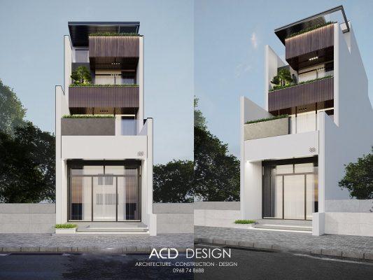 thiết kế nhà rộng 6m dài 12m