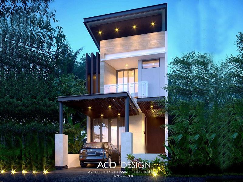 Mẫu thiết kế nhà rộng 6m dài 14m kiến trúc hiện đại