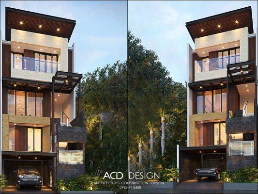 thiết kế nhà rộng 6m dài 18m
