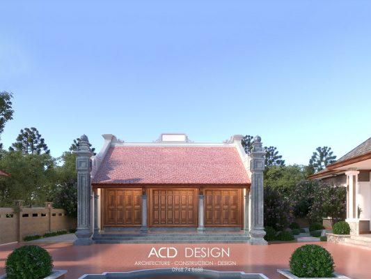 thiết kế nhà thờ họ 3 gian