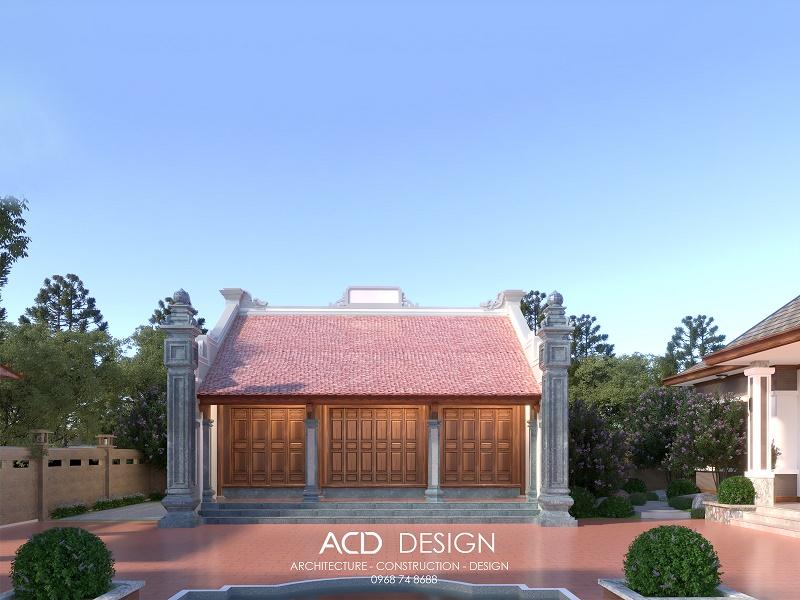 Mẫu thiết kế nhà thờ họ 3 gian được nhiều lựa chọn