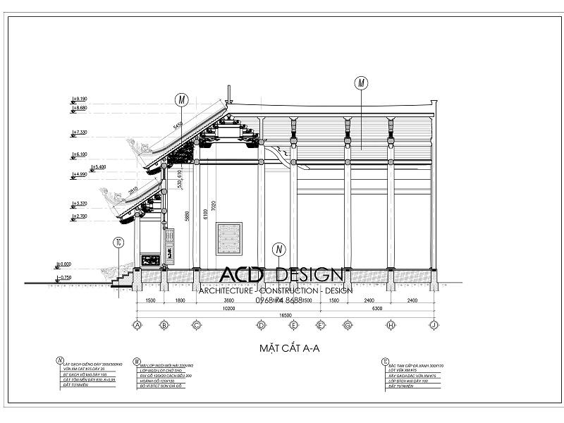 bản vẽ thiết kế chùa