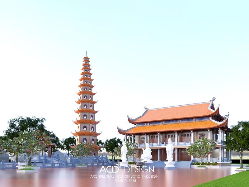 Bản vẽ thiết kế chùa độc đáo nhận được nhiều lựa chọn