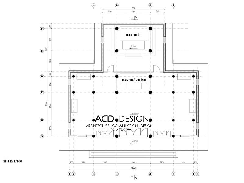 bản vẽ thiết kế đình chùa