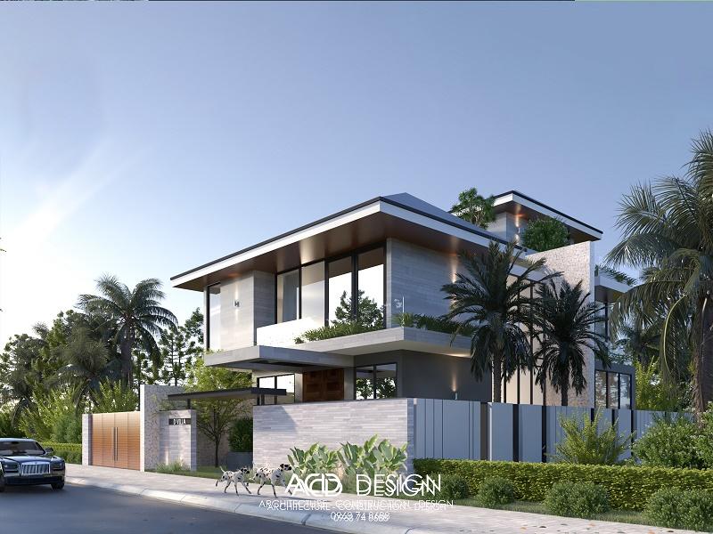 Thiết kế biệt thự hiện đại 3 tầng kiến trúc độc đáo