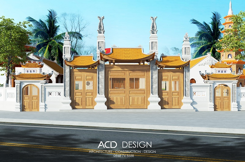 kiến trúc chùa hiện đại đẹp
