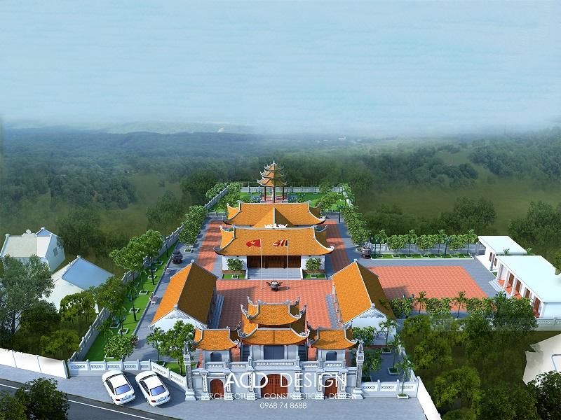 Thiết kế kiến trúc đình chùa Bắc Bộ đẹp