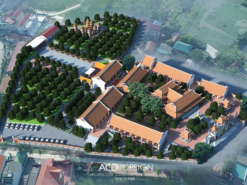 Mẫu thiết kế chùa đẹp - Thiết kế chùa linh sơn