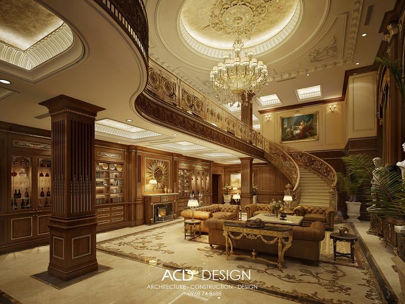 Thiết kế nội thất cổ điển pháp phong cách độc đáo