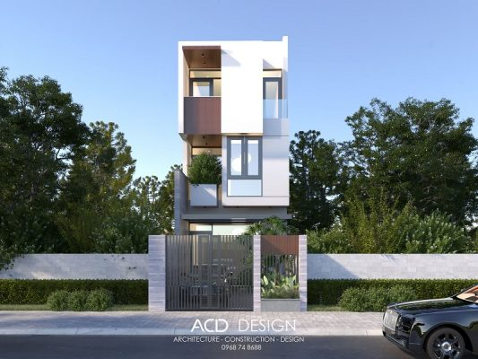 thiết kế nhà phố rộng 5m dài 13m