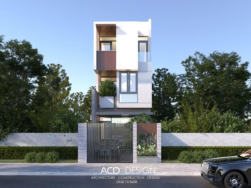 Thiết kế nhà phố rộng 5m dài 13m phong cách hiện đại