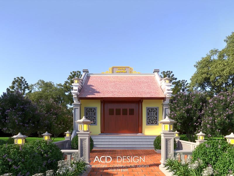 thiết kế nhà thờ họ 300 triệu