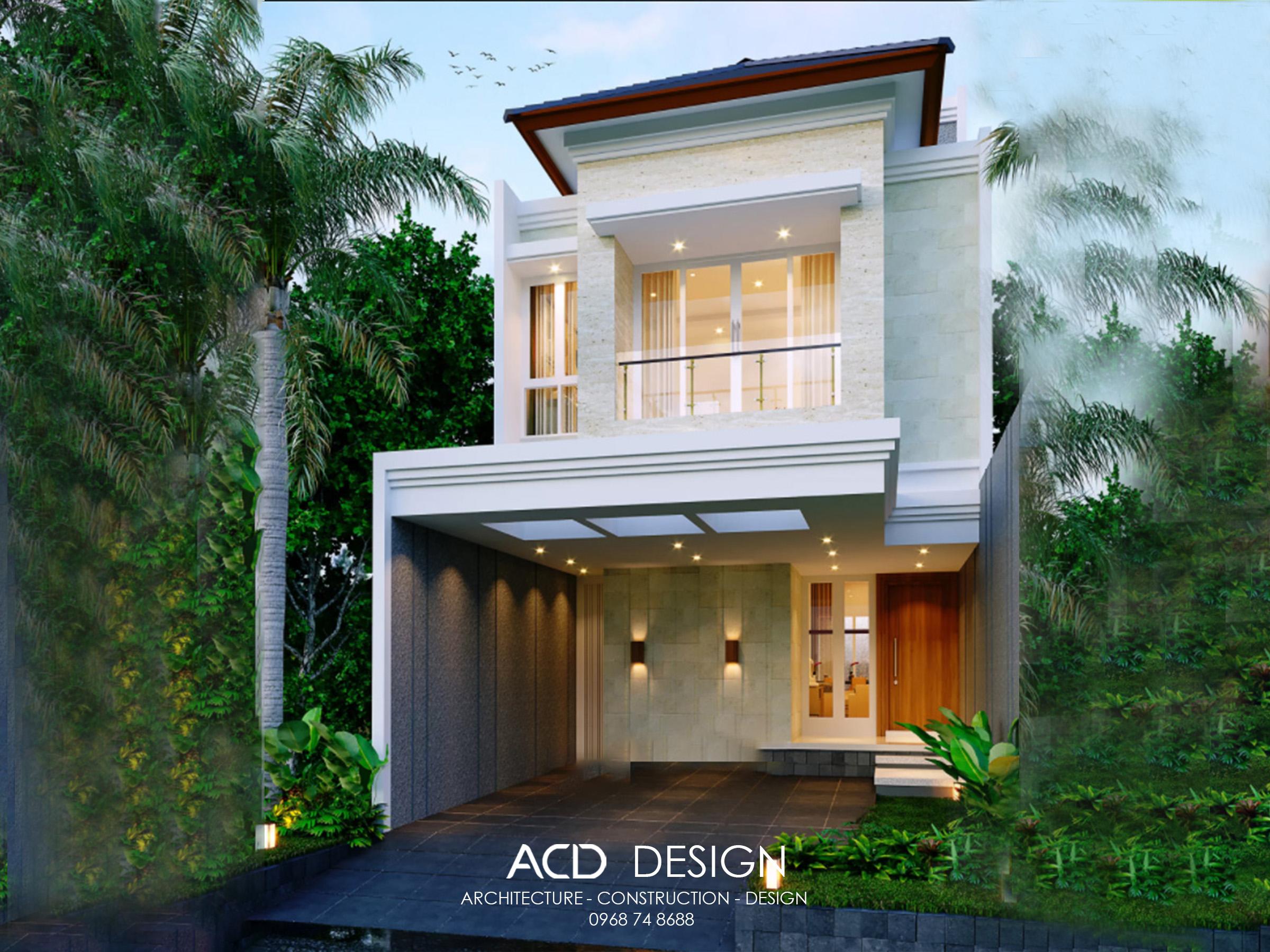 Thiết kế nhà phố 2 tầng 6m kiến trúc hiện đại đẹp và sang trọng