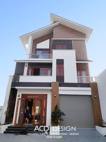 Thi công biệt thự 3 tầng  mái thái