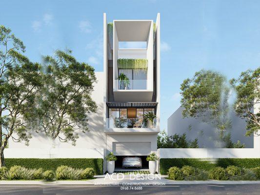 Bản vẽ thiết kế nhà phố mặt tiền 4m
