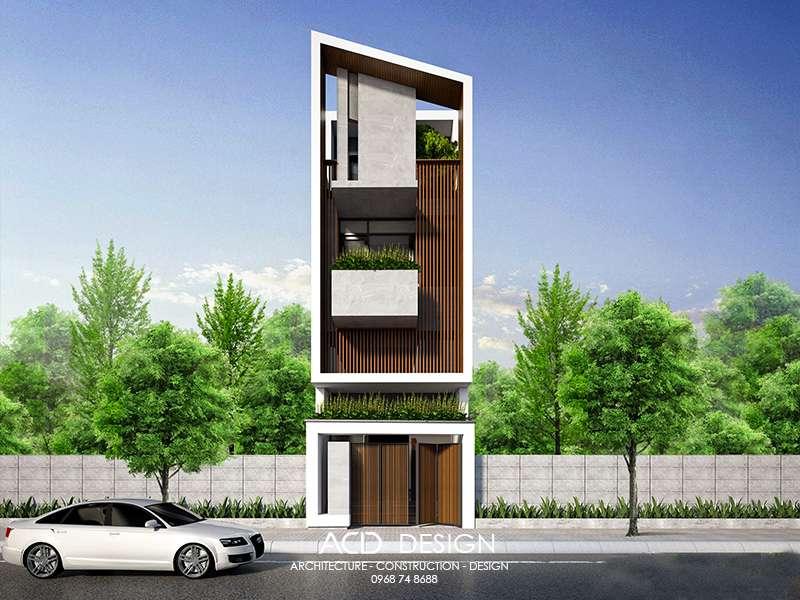 Mẫu nhà 4 tầng mặt tiền 5m chi phí 900 triệu