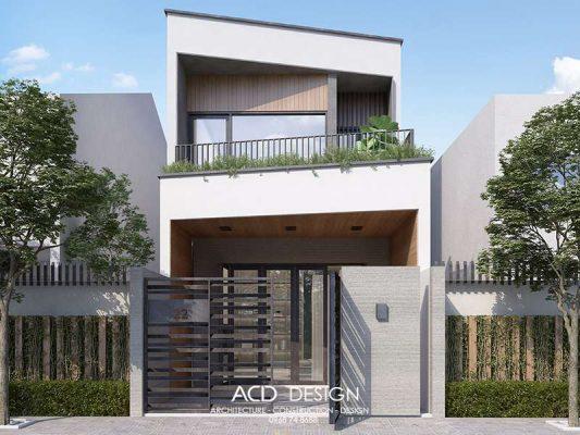 mẫu nhà phố 2 tầng 5x17