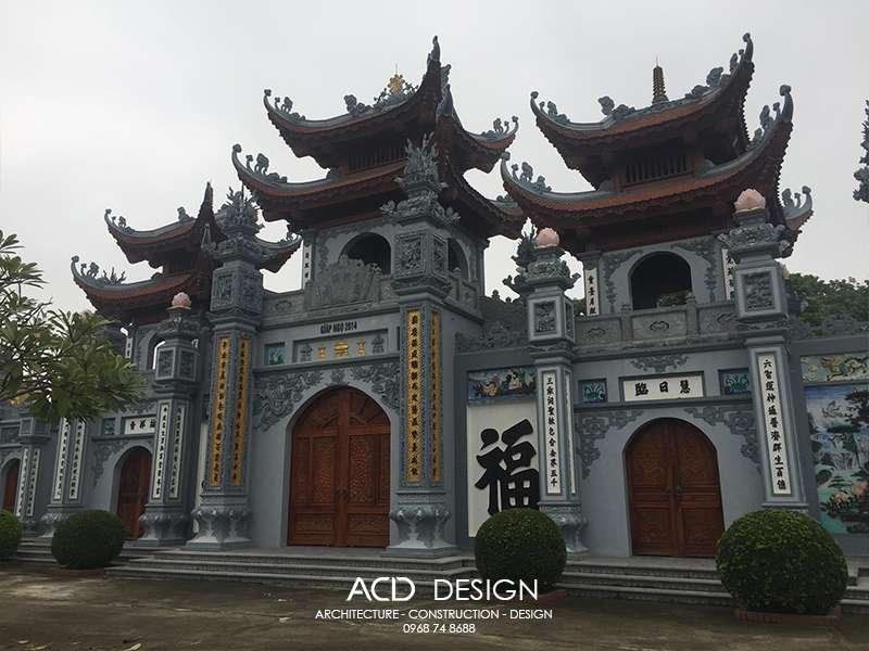 Thiết kế cổng chùa