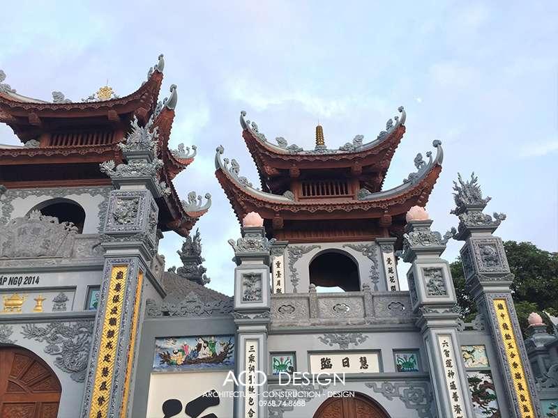 Thiết kế cổng chùa đẹp