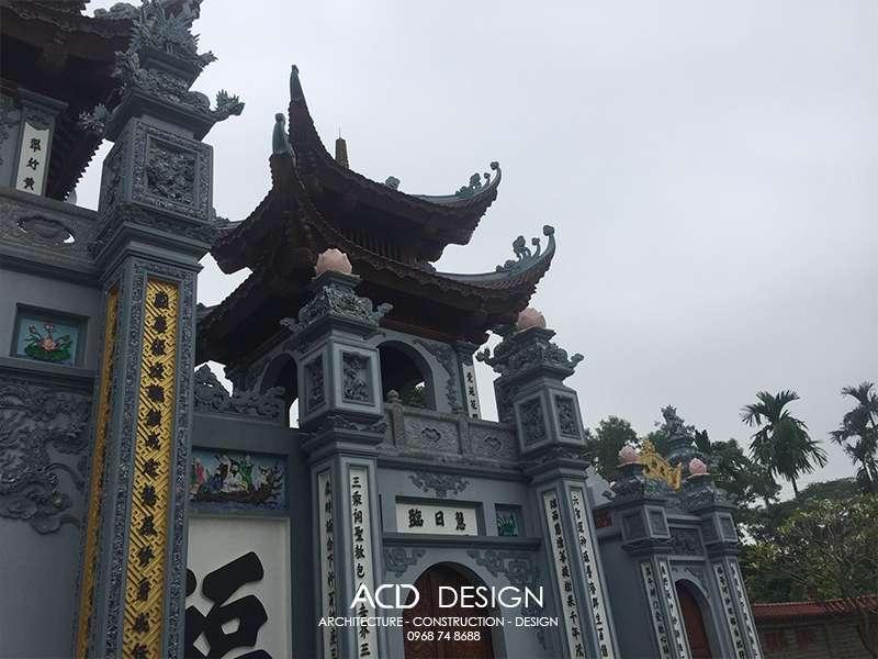 Thi công cổng chùa