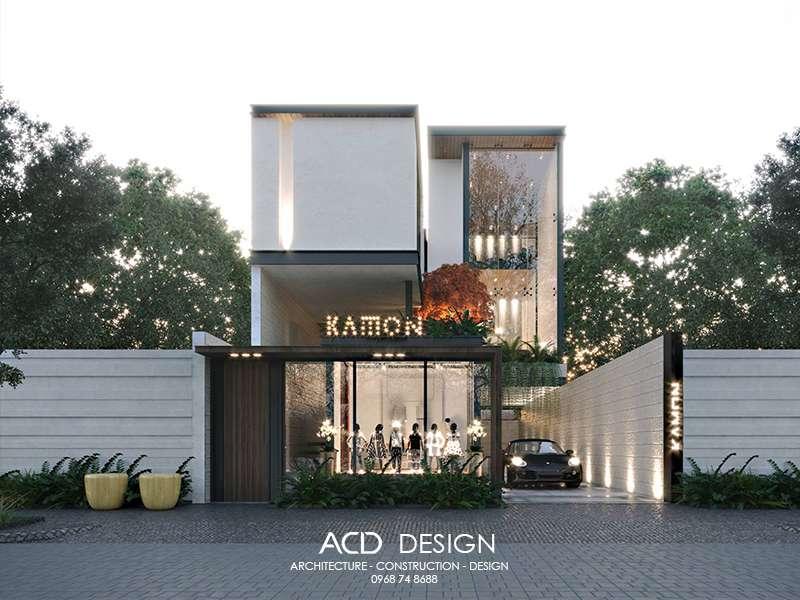 Thiết kế nhà vừa ở vừa buôn bán theo kiến trúc hiện đại