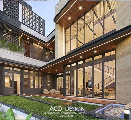 thiết kế nhà ngang 8m dài 14m