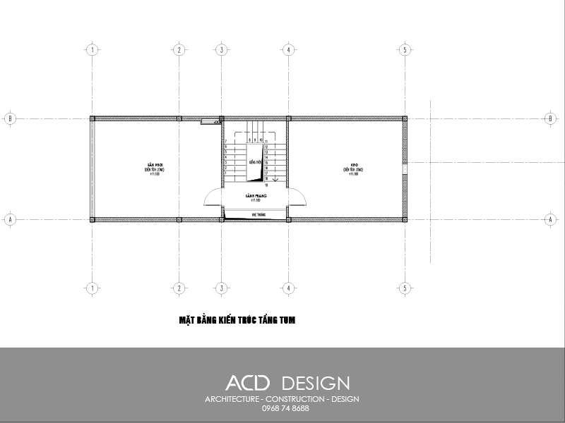 mẫu nhà ống mái thái 3 tầng