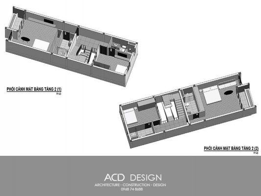 bản vẽ thiết kế nhà 4 tầng